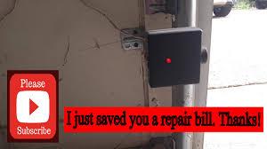 genie garage door opener red light blinking genie garage door opener not closing easy fix youtube