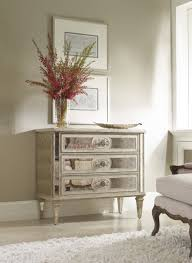 hooker furniture living room three drawer antique mirrored chest