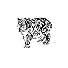tribal hippo by ryoukotakihama on deviantart