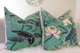 schumacher lotus garden jade pillow cover schumacher pillow