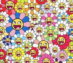 Smiley Flowers - takashi murakami inspired happy flowers blossom kaikai kiki