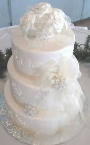 snowflake winter wedding cake topper with 6 by initialmoments