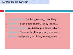 Countable And Uncountable Nouns Teaching Countable Uncountable Nouns Ppt