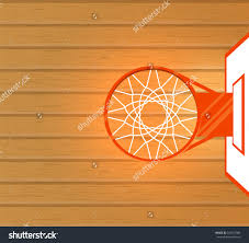 vector illustration basketball court and basket top view save to a