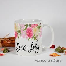 boss lady mug office latte mug gift monogramcase