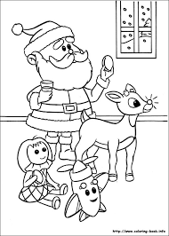 santa claus red nose rudolph reindeer coloring pages