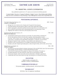 Project Coordinator Resume Examples by Event Coordinator Resume Bidproposalform Com