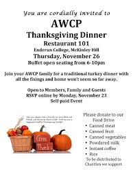 thanksgiving always on thursday american women u0027s club of the philippines awcp thanksgiving dinner