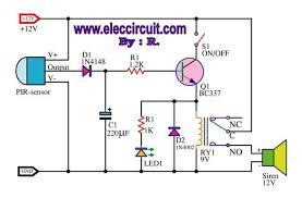 motion sensor alarm circuit