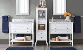 tips creating bathroom vanity storage solutions pottery barn