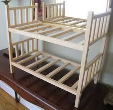 American Made Bunk Beds Stackable Solid Wood Doll Bunk Bed American Made For 18 Doll