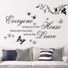 2017 new bring joys to this house vinyl wall stickers flower