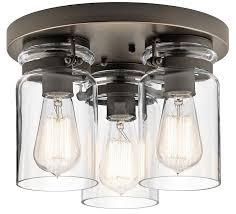 3 light flush mount ceiling light fixtures brinley 3 light flush mount ceiling light olde bronze clear glass