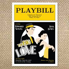 playbill wedding program playbill theater wedding invitation via etsy getti and