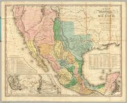Map Mexico States by Map Of The United States Of Mexico David Rumsey Historical Map