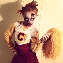 zombie flamingo spirit halloween lsu zombie cheerleader gracie dead cheerleaders pinterest