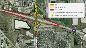Illinois Toll Map by Elmhurst Road Interchange Project At I 90 Illinois Tollway