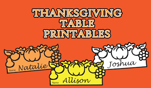 thanksgiving printables for the table alexbrands