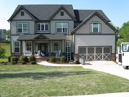 dark grey exterior house paint design with garage door can be dark grey exterior house paint design with garage door can be decor small terrace add the modern touch inside it