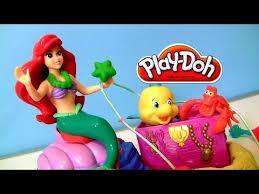 play doh ariel mermaid disney princess flounder