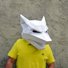 paper halloween mask make your own wolf mask wolf mask forest animal