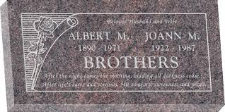 granite headstones 24 x 12 x 3 flat granite headstone honor