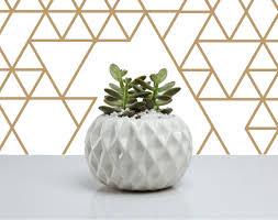 Indoor Planter Pots by Geometric Diamond Planter Minimal Planter Cactus Planter