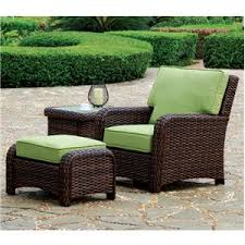 Patio Chair And Ottoman Set Sets Ideal Patio Furniture Sets Concrete Patio As Patio Chair With