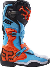 mx riding boots fox racing new 2017 mx comp 8 dirt bike blue aqua orange