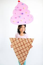 Scream Halloween Costume Kids Cutest Ice Cream Cardboard Costume Kids Easy Diy Recycled