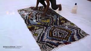 how wash your vintage boucherouite rug youtube