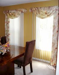 How To Hang Curtain Swags by Valances And Swags For Sliding Glass Doors With Vertical Blinds