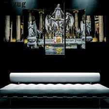 aliexpress com buy 5 pieces canvas art jesus christian church