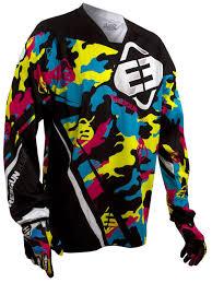 pink motocross gear freegun blue yellow pink shot 2015 devo camo kids mx jersey
