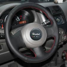 nissan versa wheel cover diy hand sewing nappa leather stitch on car steering wheel cover