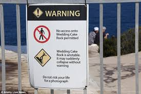 wedding cake rock parking visitors ignore signs and pose for photos on notorious and deadly
