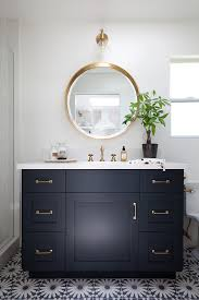 Black Bathroom Vanity With Sink by We Love The Vanity And Gold Trimmings In This Gorgeous Bathroom