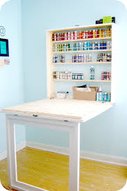 Diy Craft Desk With Storage Craft Paint Storage Ideas Diy Tutorial Tutorials And Craft