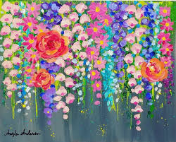 painting for best 25 acrylic painting flowers ideas on