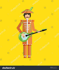 silhouette guitar player flat design image stock vector 358357259