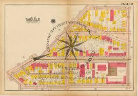 Boston Street Map by Antique Atlas Map Print South Boston Massachusetts 1919