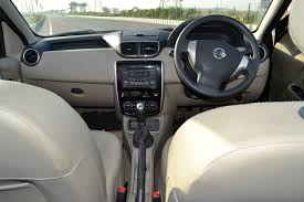 nissan kicks specification nissan terrano petrol review images interior dashboard carblogindia