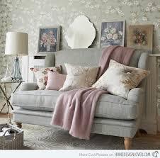 Floral Living Room Furniture 15 Living Room With Floral Wallpapers Home Design Lover
