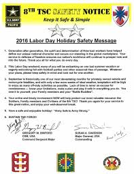 2016 labor day safety message article the united