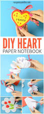 diy heart notebook mother u0027s day card or kid made gift idea