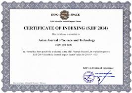 public html impact factor certificate asian journal of science and technologies