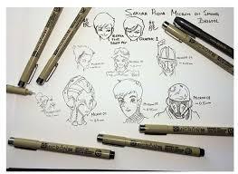 7 pcs lot sakura pigma micron needle for drawing sketch cartoon