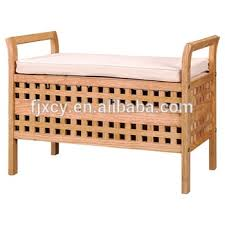 Wooden Storage Bench Lidl Solid Wood Bathroom Storage Bench With Removeable Canvas