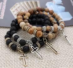 beads with cross bracelet images Wholesale coolest semi precious stone beads cross men bracelets jpg