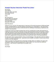 job interview thank you letter thank you letter after job